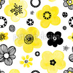 Flowering Backyard Repeating Pattern