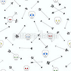 Skull And Arrows Seamless Vector Pattern Design