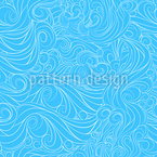 Wavy Clouds Seamless Vector Pattern Design
