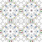Чуваш Бесшовный дизайн векторных узоров