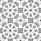 Monochrome Chuvash Pattern Design