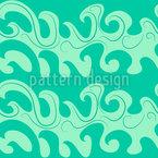 波打つ落書き シームレスなベクトルパターン設計