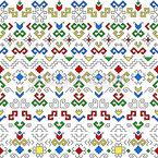 Чувашская полоска Бесшовный дизайн векторных узоров
