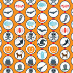 Scary Parade Orange Design Pattern