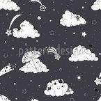 Playful Clouds Seamless Vector Pattern Design