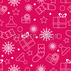 Silhouette of Christmas Things Seamless Vector Pattern