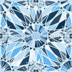 Grafische Eiskristalle Rapportiertes Design