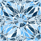 Graphical Ice Crystals Seamless Vector Pattern Design