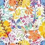 Blumenwiese Nahtloses Vektormuster