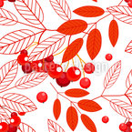 Autumnal Mountain Ash Design Pattern
