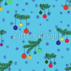 Weihnachtsbaum und Schnee Rapportmuster