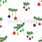Christmas Twigs And Snow Seamless Vector Pattern Design