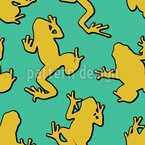 Frogs On The Wall Pattern Design