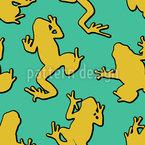 Лягушки на стене Бесшовный дизайн векторных узоров