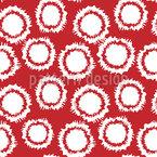 Ausgefranste Kreise Nahtloses Vektor Muster