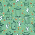 Vögel und Käfige Muster Design