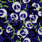 Bats and Skulls Party Pattern Design