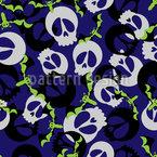 Fledermäuse und Schädel Party Musterdesign
