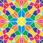 Flor Mosaico Design de padrão vetorial sem costura
