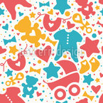 Baby Stuff Seamless Vector Pattern Design