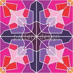 Eckige Flora Nahtloses Vektor Muster