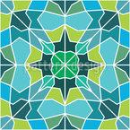 Eiskaltes Mosaik Rapportiertes Design