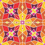 Gespiegelte Blütenform Muster Design