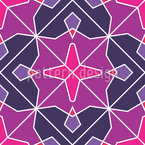 Diamond Flowers Mosaic Pattern Design