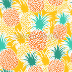 Sun Fruits And Pineapple Juice Seamless Vector Pattern Design