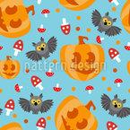 Halloween-Eule Vektor Ornament