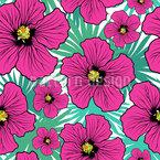 Hibiskus Blüte Musterdesign