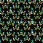 Ananas in der Nacht Nahtloses Vektor Muster