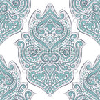 Lovely Boho Curlicue Seamless Vector Pattern Design