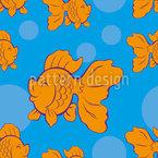 Glücklicher Goldfisch Muster Design