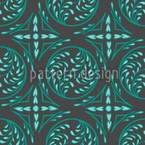 Pintoretto Mint Seamless Vector Pattern Design