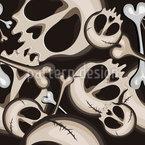 Schädel und Knochen Musterdesign