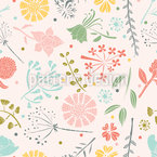 Blumenmotiv Nahtloses Vektormuster