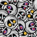 Spooky Skulls Seamless Vector Pattern Design