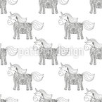 Unicorn Mandala Seamless Vector Pattern Design