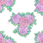 Blühender Rosenstrauß Muster Design