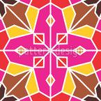 Azulejos Morrocan Design de padrão vetorial sem costura