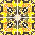 Azulejo Oriental Design de padrão vetorial sem costura