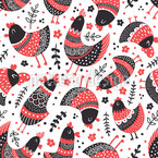Whimsical birds Seamless Vector Pattern Design