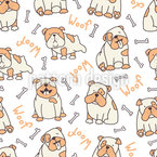 English bulldogs Pattern Design