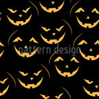Laughing pumpkin Lantern Repeat Pattern