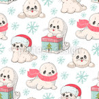 Baby Seals  Seamless Vector Pattern Design