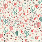 Happy cacti in desert Pattern Design