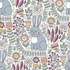 Niedliche Kaninchen Nahtloses Vektormuster