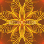 Blumen Geometrie Rapportmuster