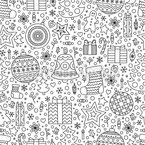 Doodled christmas Seamless Vector Pattern Design